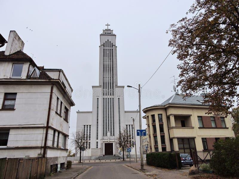 Cidade de Kaunas, Lituânia fotos de stock royalty free