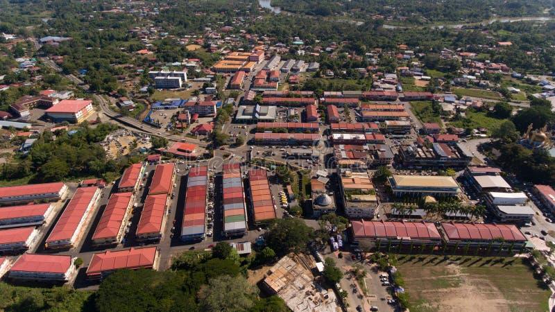 Cidade de Kota Belud, Sabah imagem de stock