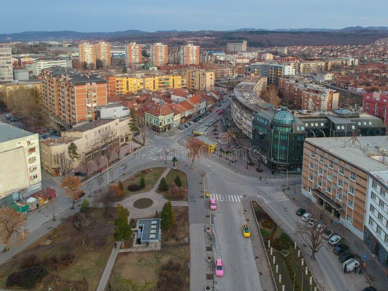 A cidade de Kragujevac imagem de stock royalty free