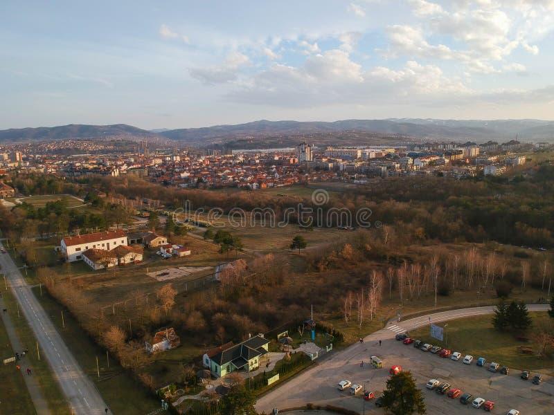 A cidade de Kragujevac imagem de stock