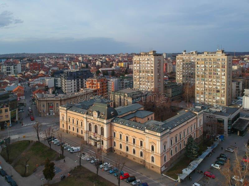 A cidade de Kragujevac fotos de stock