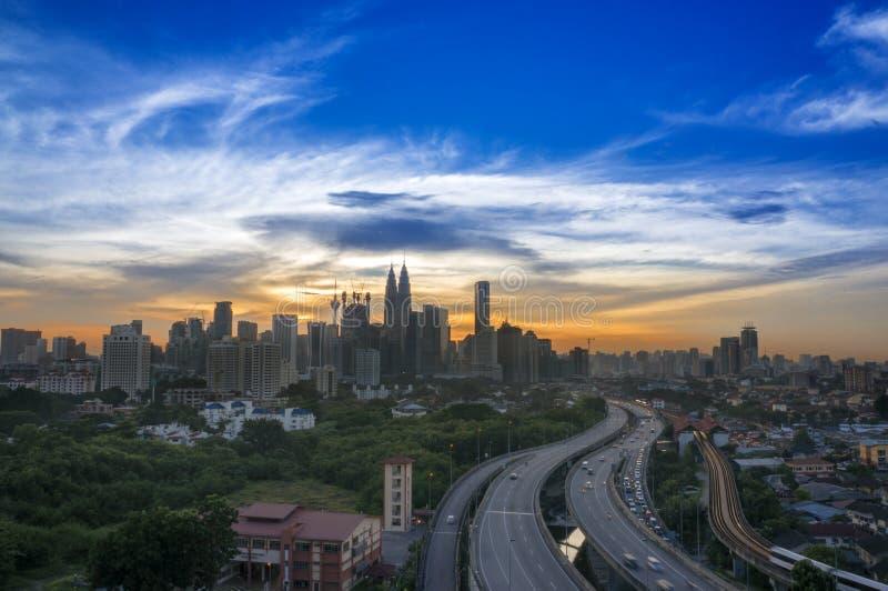 Cidade de Kuala Lumpur imagens de stock royalty free