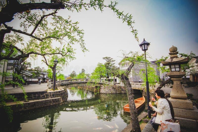 Cidade de Kurashiki foto de stock