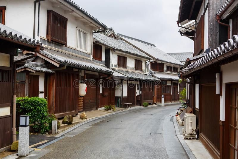 Cidade de Kurashiki, cidade japonesa velha em Okayama imagens de stock