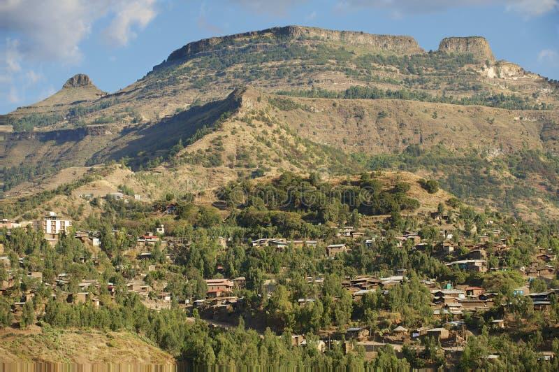 Cidade de Lalibela, Etiópia Local do património mundial do Unesco foto de stock