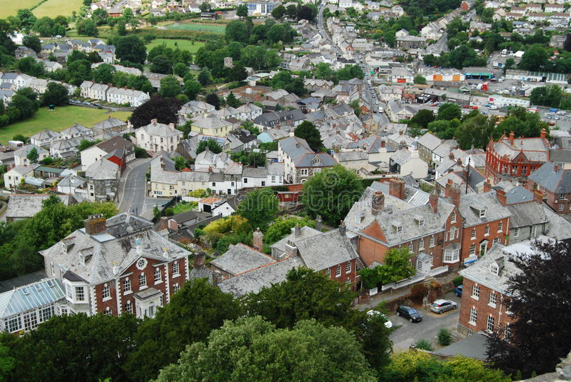 Cidade de Launceston do castelo, Cornualha foto de stock royalty free