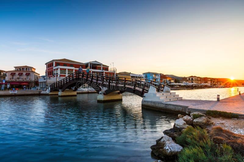 Cidade de Lefkada foto de stock royalty free