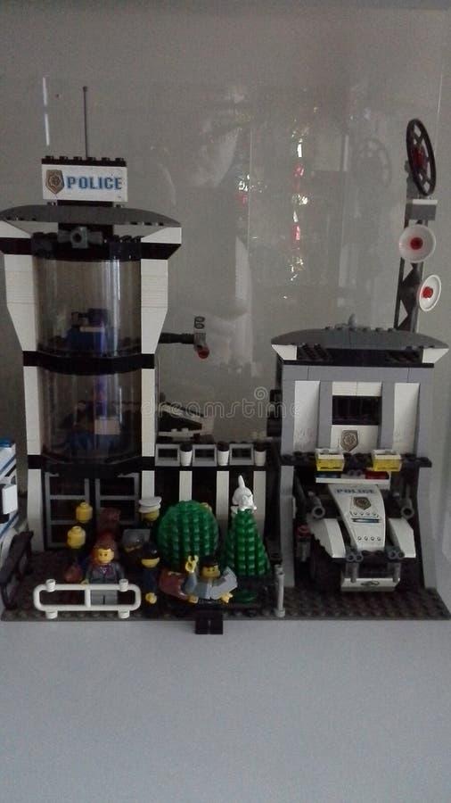 Cidade de LEGO fotografia de stock royalty free