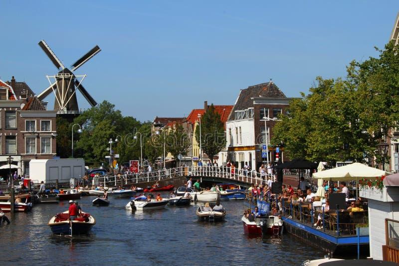 Cidade de Leiden imagens de stock