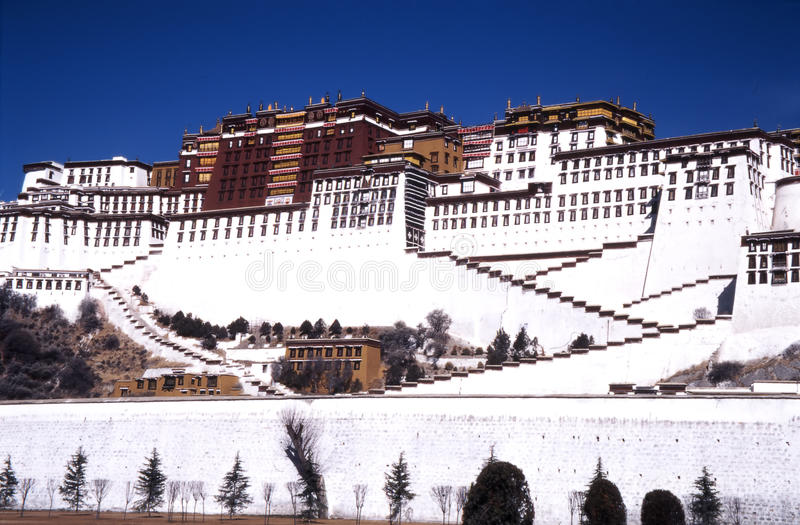 Cidade de Lhasa fotografia de stock royalty free