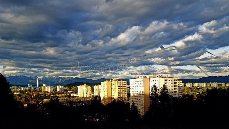 Cidade de Ljubljana imagens de stock royalty free