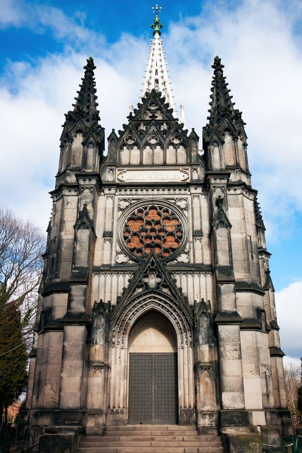 Cidade de Lodz, Karl Scheiblers Chapel gótico imagens de stock