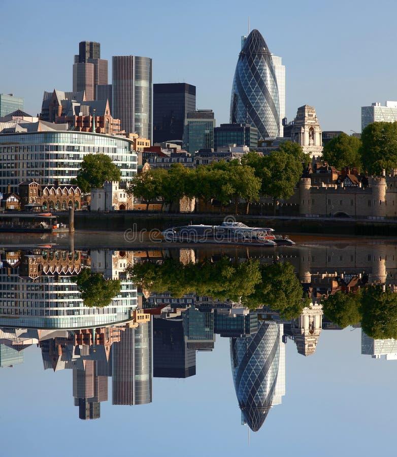 Cidade de Londres moderna, Reino Unido imagens de stock