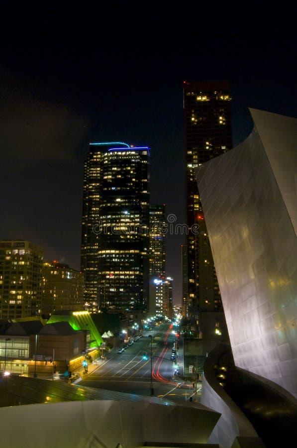 Cidade de Los Angeles na noite foto de stock