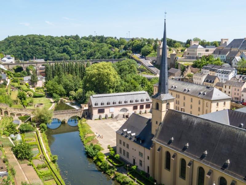 Cidade de Luxembourg fotografia de stock