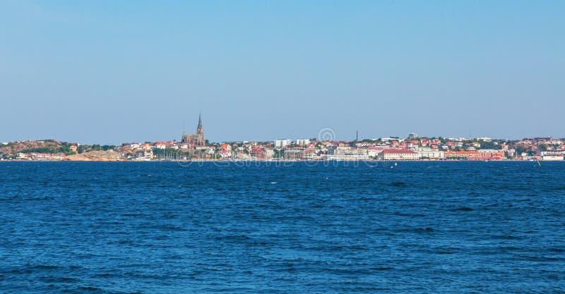 Cidade de Lysekil do mar foto de stock royalty free