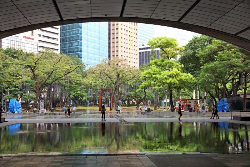 Cidade de Makati, Manila imagem de stock