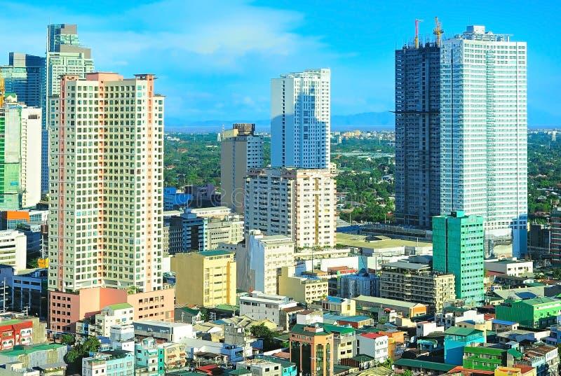 Cidade de Makati, Manila, Filipinas fotografia de stock