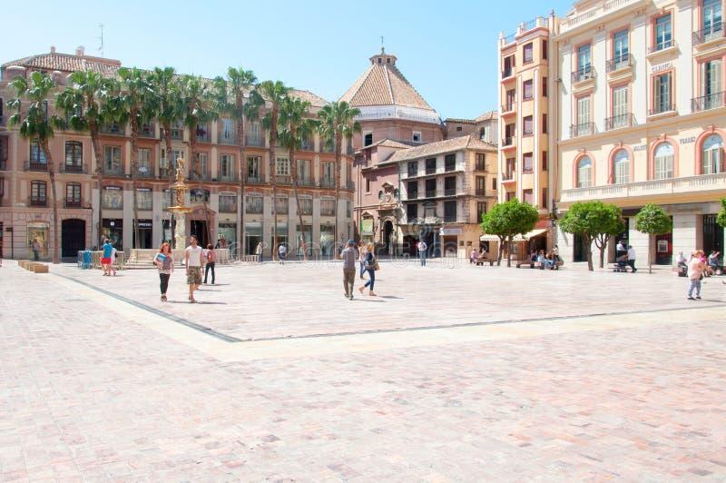 Cidade de Malaga, Espanha fotografia de stock