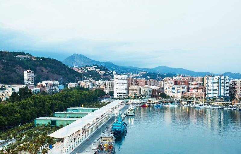 Cidade de Malaga, Espanha fotos de stock