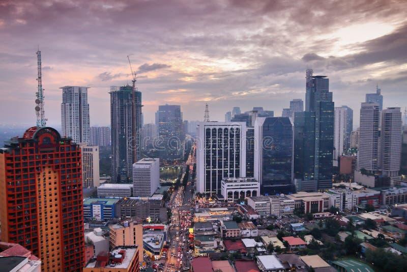 Cidade de Manila imagens de stock royalty free