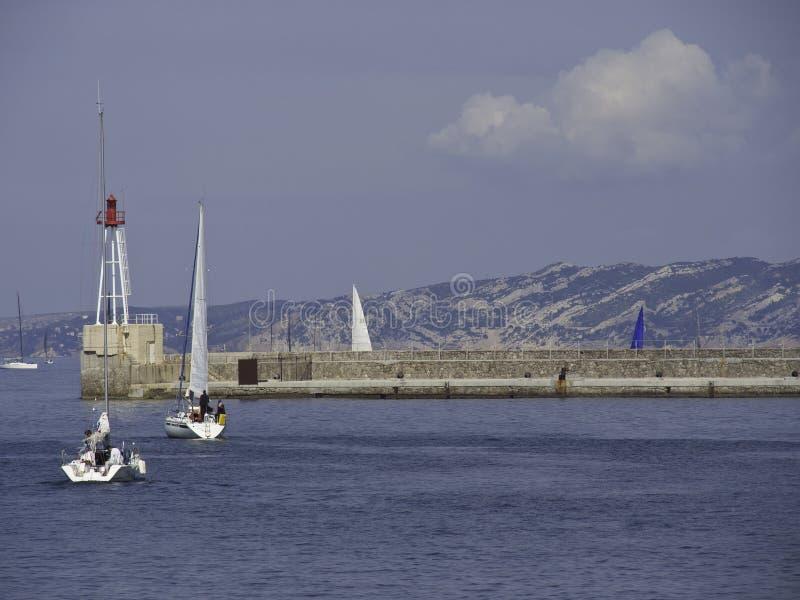 A cidade de Marselha fotografia de stock royalty free