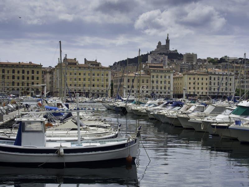 A cidade de Marselha imagem de stock