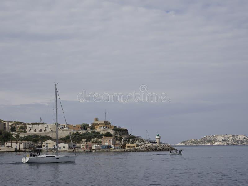 A cidade de Marselha imagens de stock royalty free
