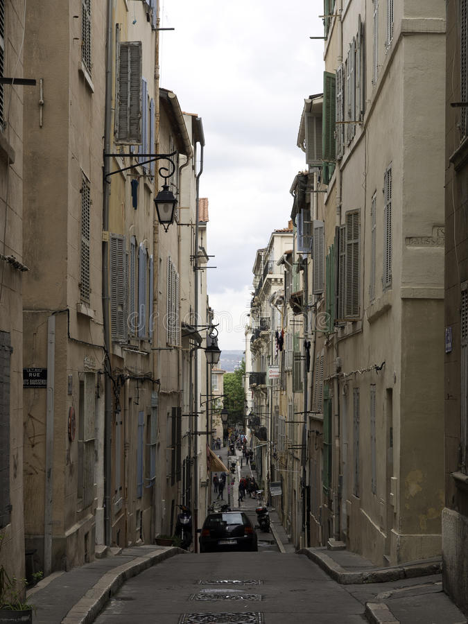 A cidade de Marselha imagem de stock royalty free