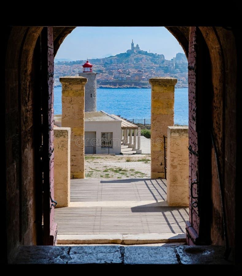 A cidade de Marselha do castelo de se fotos de stock