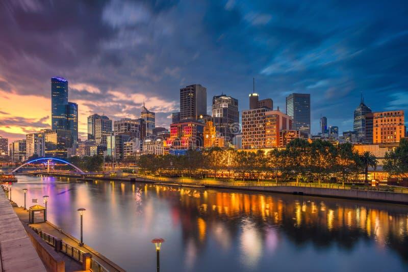 Cidade de Melbourne foto de stock