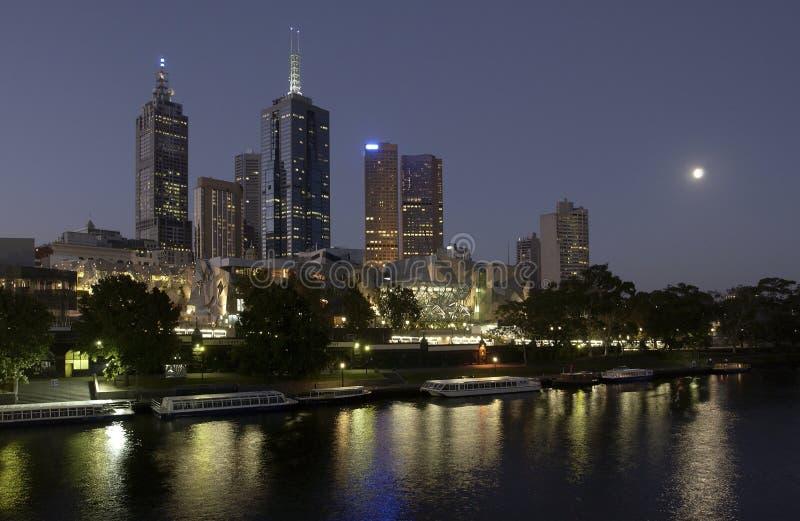 Cidade de Melbourne em Austrália fotos de stock