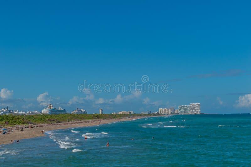 Cidade de Miami foto de stock royalty free