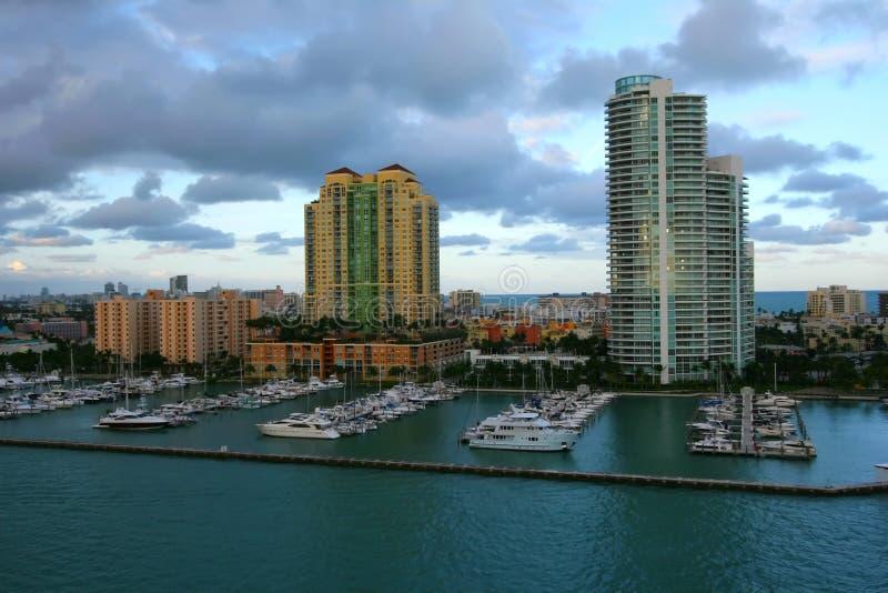 Cidade de Miami imagens de stock