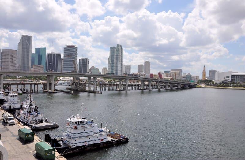 Cidade de Miami imagens de stock royalty free