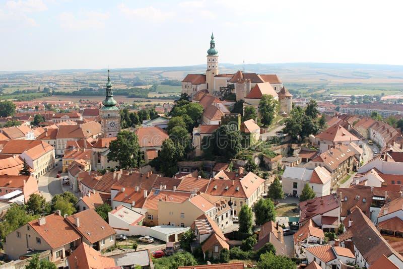 A cidade de Mikulov imagem de stock