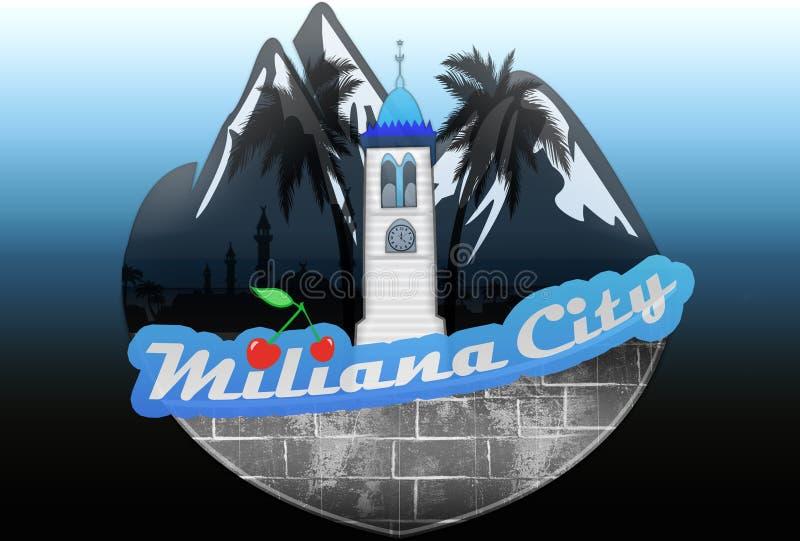 Cidade de Miliana imagem de stock