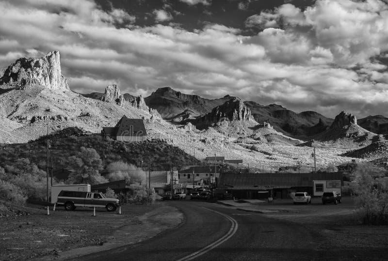 Cidade de mineração histórica, Oatman o Arizona foto de stock