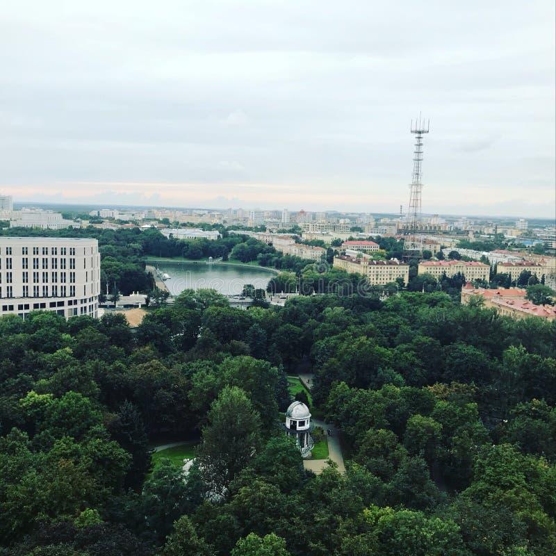 A cidade de Minsk é de uma opinião de olho de pássaros imagem de stock royalty free