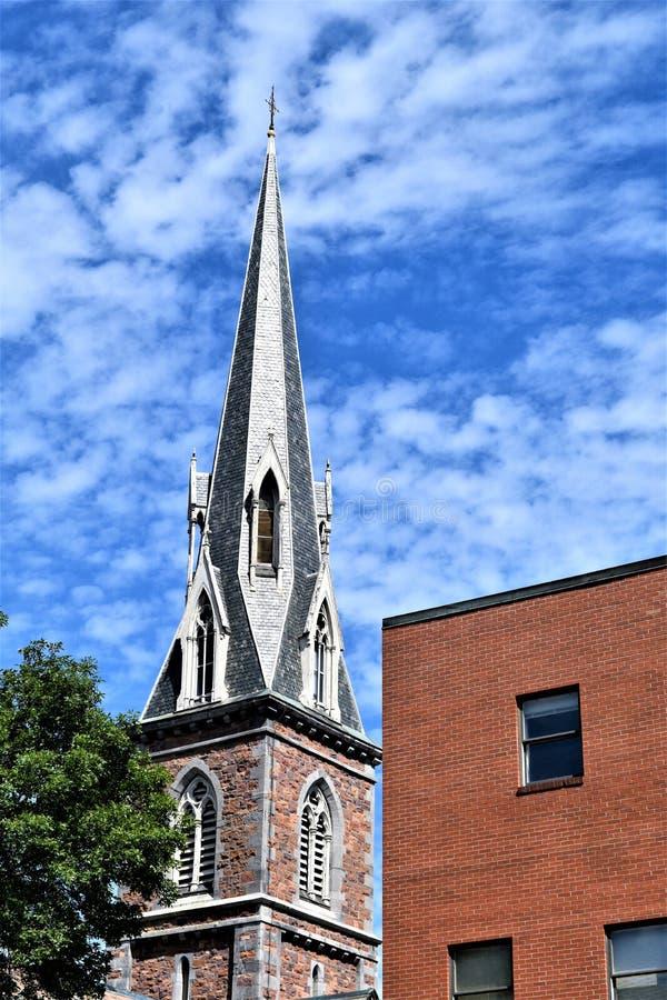 Cidade de Montpelier, Washington County, Vermont, Estados Unidos, capital de estado fotografia de stock royalty free