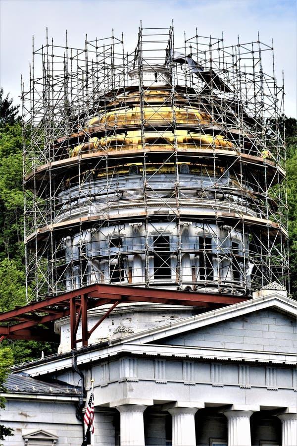 Cidade de Montpelier, Washington County, Vermont, Estados Unidos, capital de estado imagens de stock royalty free