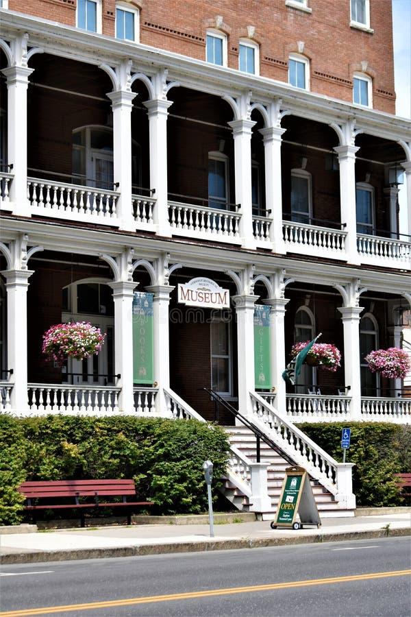 Cidade de Montpelier, Washington County, Vermont Nova Inglaterra Estados Unidos, capital de estado fotografia de stock