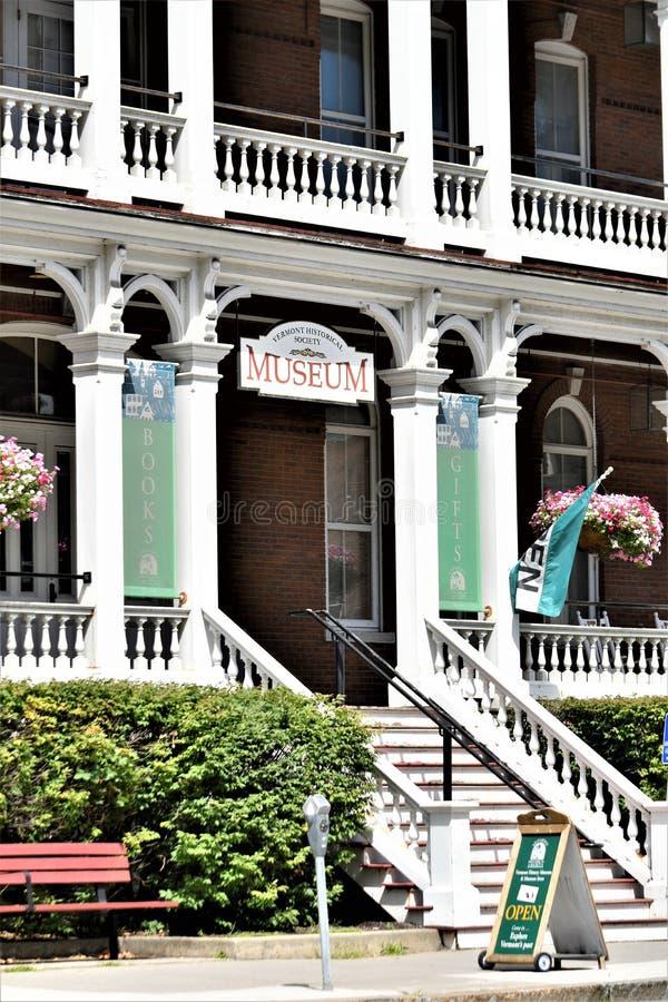 Cidade de Montpelier, Washington County, Vermont Nova Inglaterra Estados Unidos, capital de estado imagem de stock royalty free
