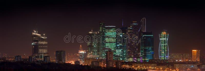 Cidade de Moscou do panorama foto de stock