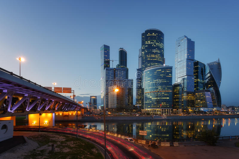 Cidade de Moscovo imagens de stock
