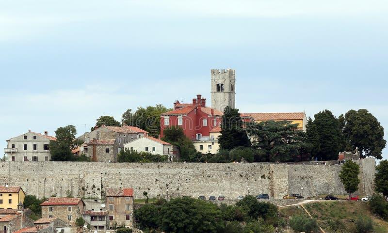 Cidade de Motovun imagens de stock royalty free