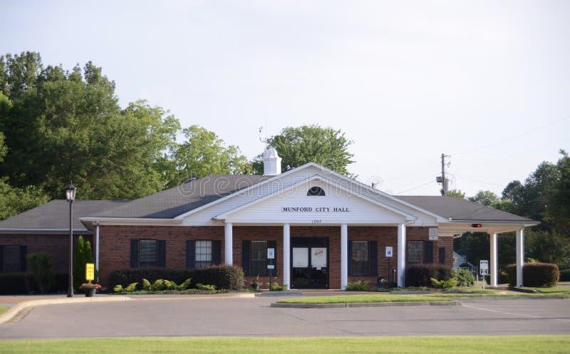 Cidade de Munford Tennessee City Hall foto de stock royalty free