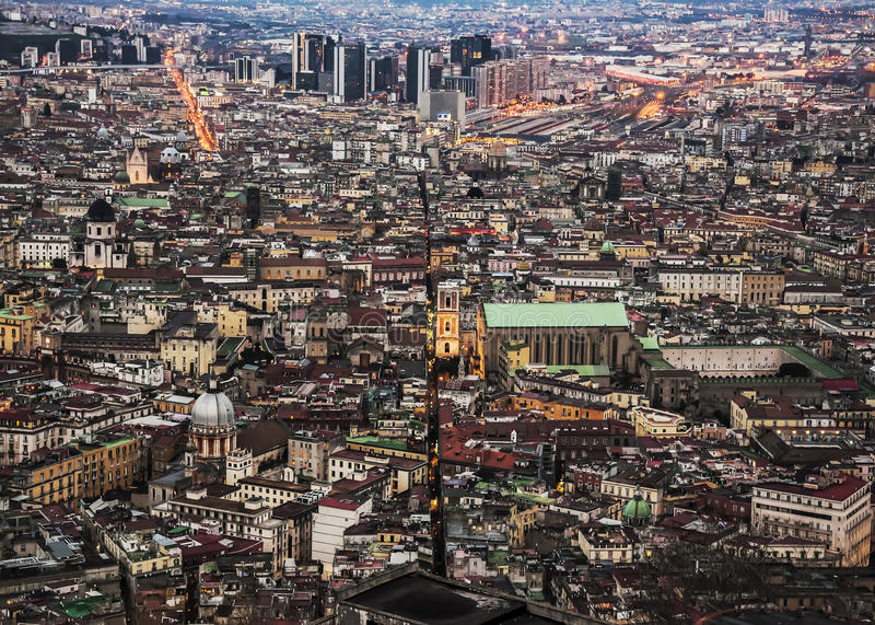 Cidade de Nápoles do centro fotos de stock royalty free