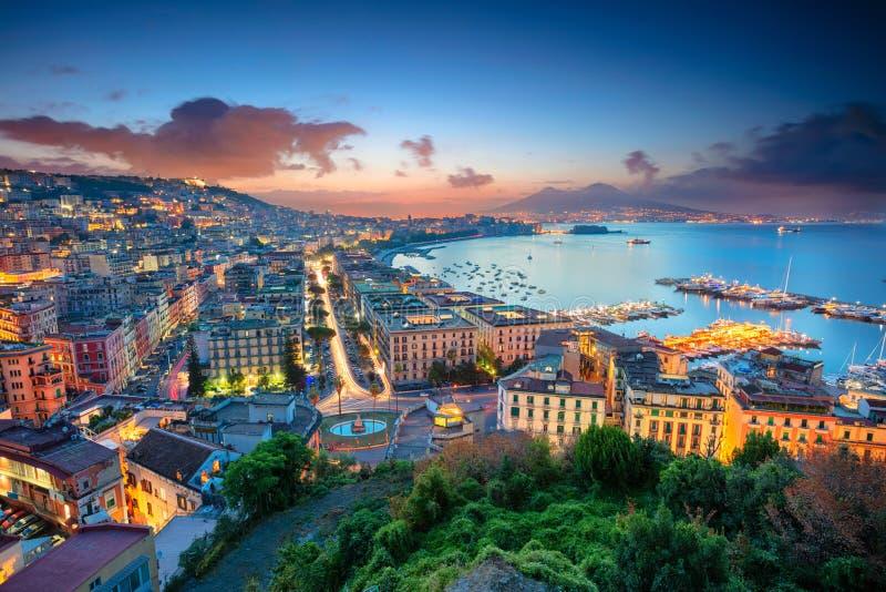 Cidade de Nápoles, Itália imagem de stock