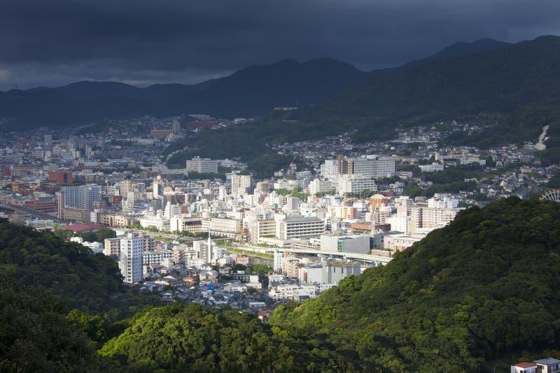 Cidade de Nagasaki, Japão foto de stock royalty free